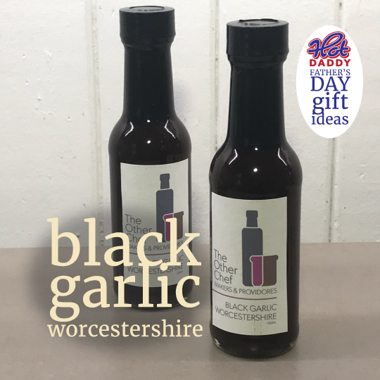 black garlic Worcestershire sauce fathers day