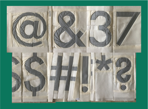 futura quilt pattern numbers punctuation pattern